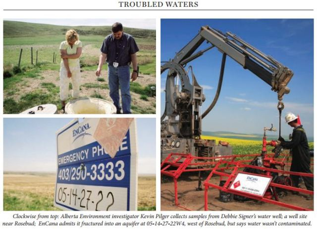 2006 Alberta Views Troubled Waters Encana admits it fractured into Rosebud Aquifer at 5-14-22-27-W4M