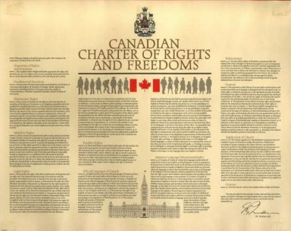 2013 10 09 screen capture Canadian Charter of Rights and Freedoms