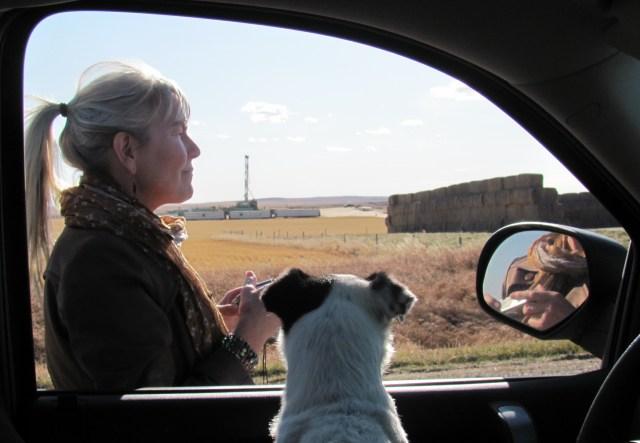 2011 10 29 Magic ever vigilant Encana drilling under Jessica's already contaminated land