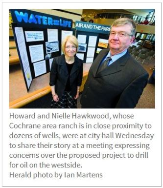2013 12 05 Big Oil, Big Problems Howard and Nielle Hawkwood present in Lethbridge