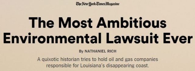 2014 10 02 The most Ambitious Lawsuit Ever, Historian, Louisiana