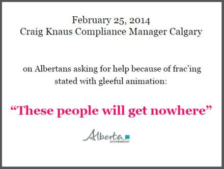 2014 03 25 Craig Knaus on Albertans asking for help on fracing in their communities 'These people will get nowhere'
