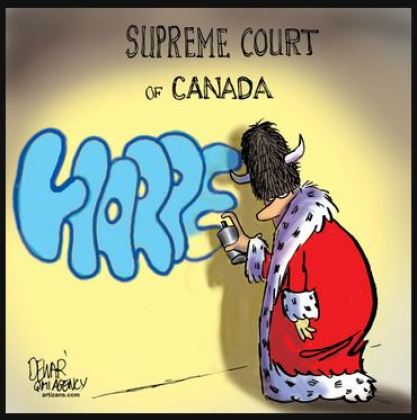 2014 05 Harper smears Supreme Court of Canada cartoon