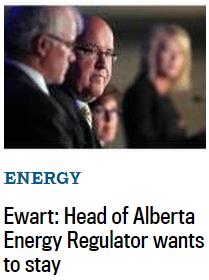 2015 06 13 Ex Encana's Ewart Promoting En-Encana's VP Gerard Protti, Head of AER wants to stay, of course he does