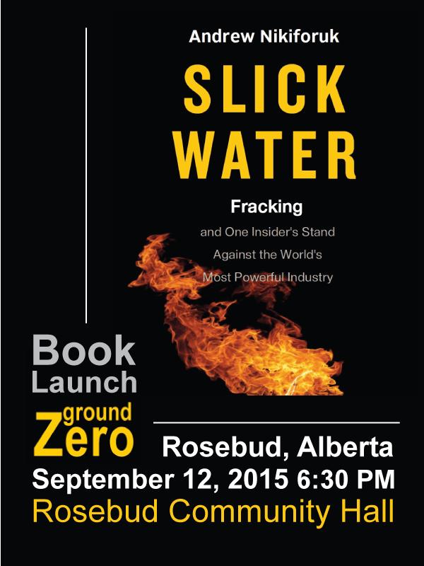 2015 09 12 Slick Water Book Launch at Ground Zero, Rosebud, Alberta