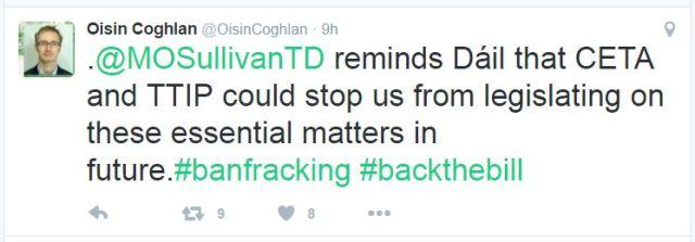 2016-10-27-oisin-coghlan-tweet-ceta-ttip-could-stop-irish-paliarment-from-legislating-frac-ban-in-future