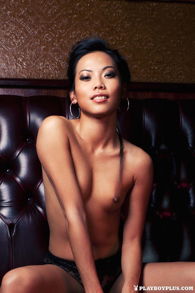 Slim Exotic Playboy Model in Stockings