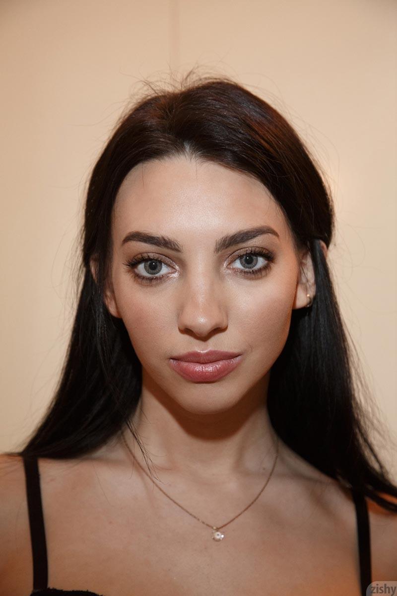 Araya Acosta in Black Fishnets