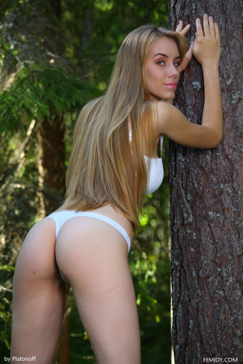 Hairy Outdoor Beauty With a Toned Body