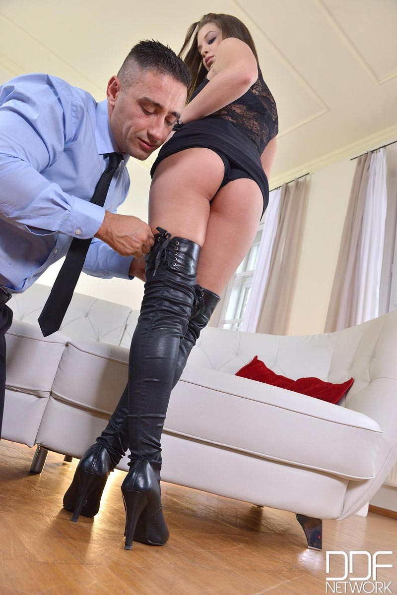 Angelina Brill Banged in Boots