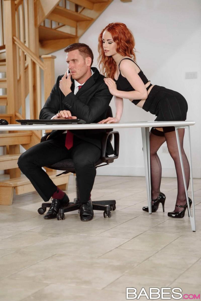 Ella Hughes Redhead Secretary in Action