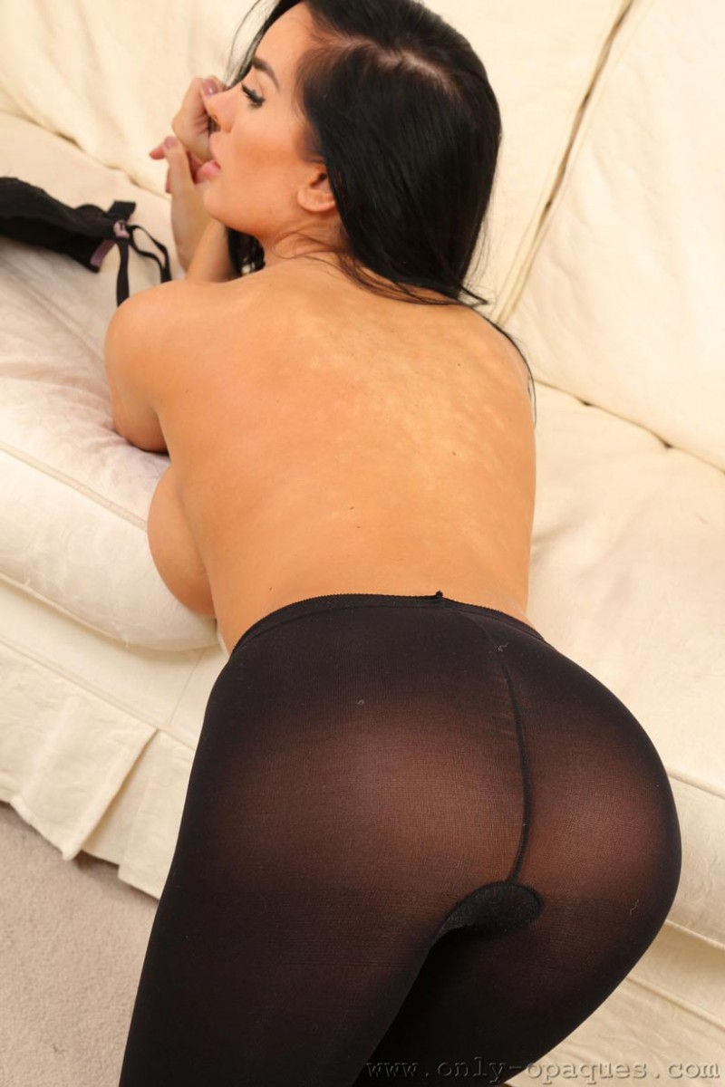 Ann Denise in Opaque Pantyhose