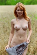 MetArt - Perky long legged redhead Mia Sollis teasing naked in the outdoors - bald pussy 2