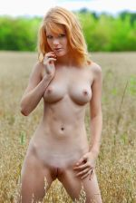 MetArt - Perky long legged redhead Mia Sollis teasing naked in the outdoors - bald pussy 3