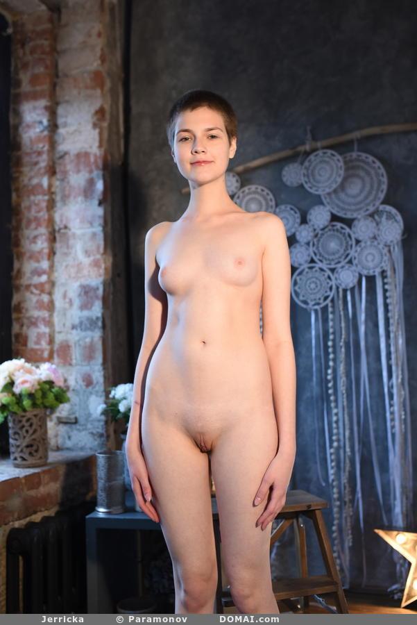 Jerricka Tiny Nude Girl with Short Hair