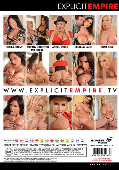 Explicit Empire, Donna Bell, Sensual Jane, Sheila Grant, Angel Wicky, Tiffany Kingston, Ava Koxxx, Big Tit, All Sex, Blowjobs, Gonzo, Boobs Exposed 3