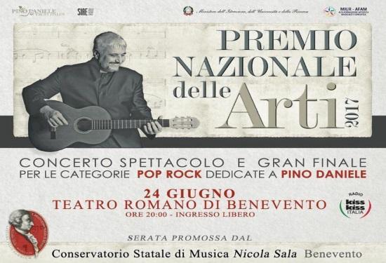 A Pino Daniele dedicato il Premio nazionale delle arti.