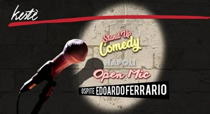 Open Mic al Kestè con lo Special Guest Edoardo Ferrario