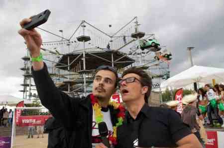 Conny Dachs mit Rafael Santeria