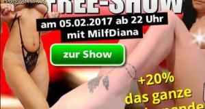 Free Show mit MILF Diana