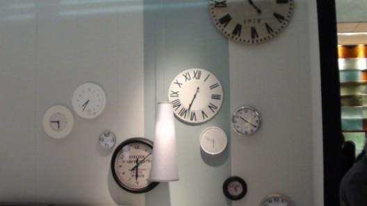 Modern clocks in Doimo Sesign showroom