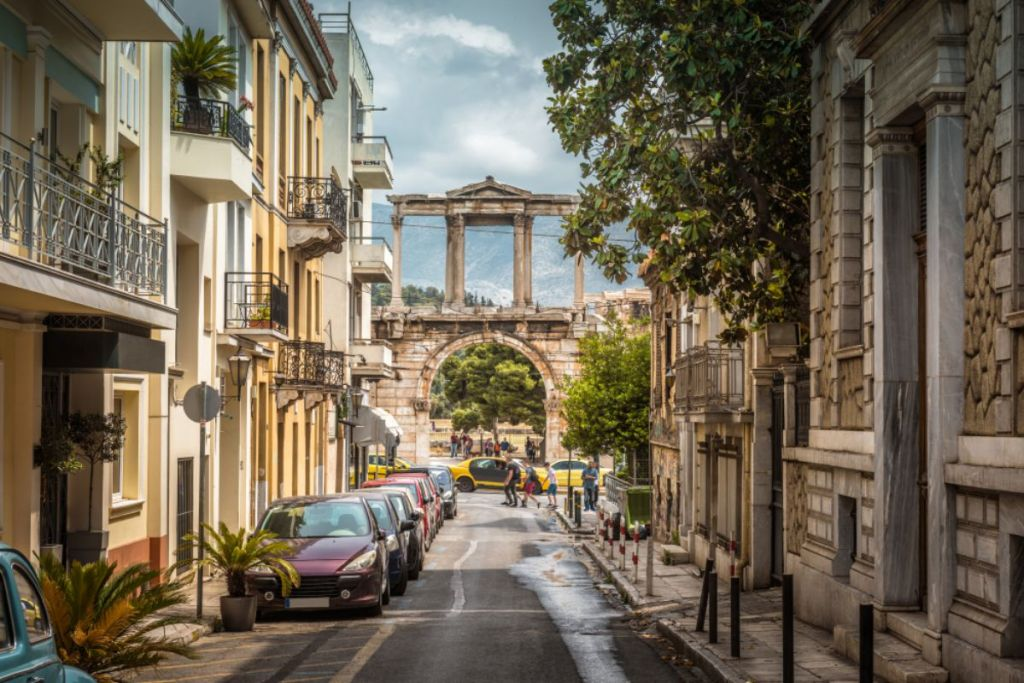 Athens-streets-honeymoon-guide