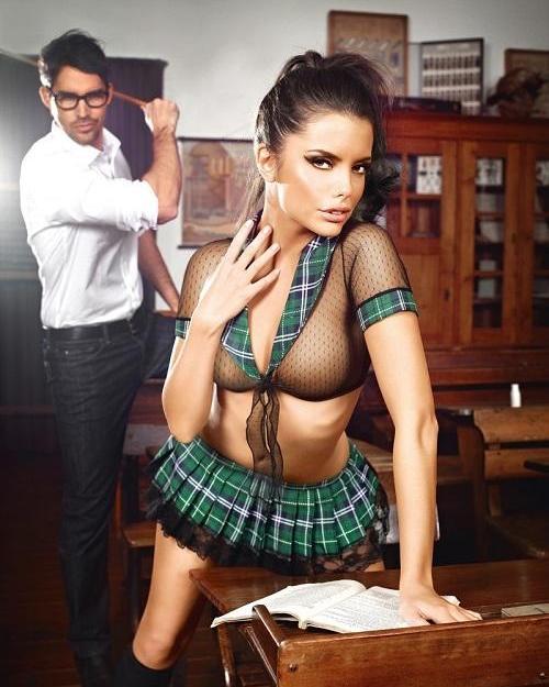 Baci Erotický kostým Neposlušná školáčka One size