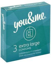 you & me Extra Large kondómy 3 ks