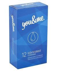 you & me Lubricated kondómy 12 ks