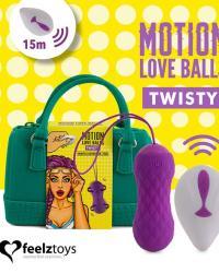 FeelzToys Motion Love Balls Twisty - vibračné vajíčko
