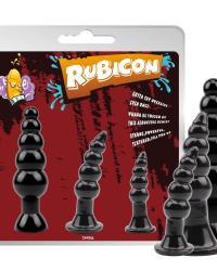 Rubicon I. sada análnych kolíkov 3 ks čierna
