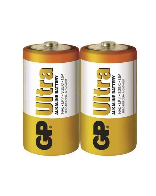 GP - batérie ULTRA alkalické C (malé mono) - 2 ks