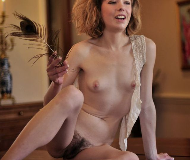 Tiny Tits Naked Erotic Gal With Hairy Pussy
