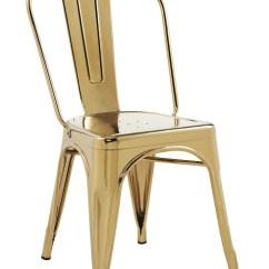 Steel Chair Gold Best Posture Uk Indoor Galvanized In Finish