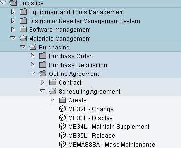 scheduling-agreement