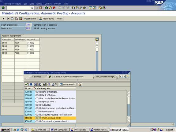 Goods Receipt / Inventory Receipt (GR/IR) clearing account