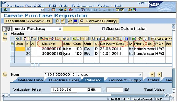 Creating Purchase Requisition And Follow Release Strategy