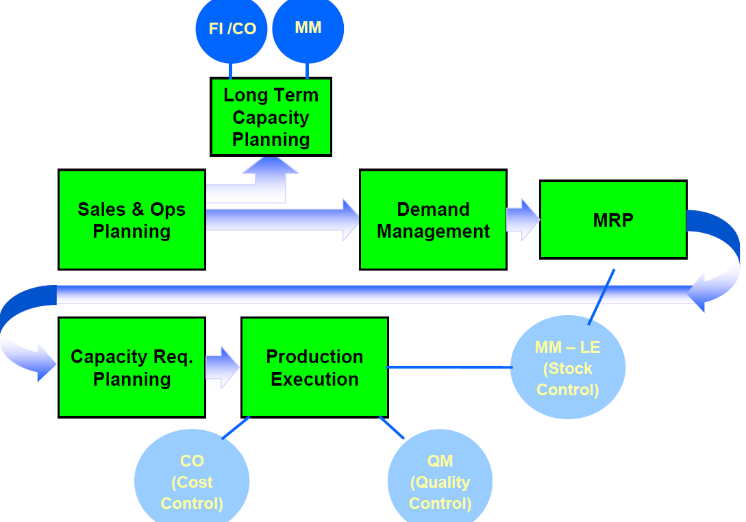 hight resolution of production planning overview in sap erp