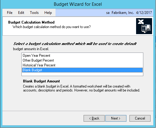 Easy Budgeting with Excel for Dynamics GP - ERP Software Blog
