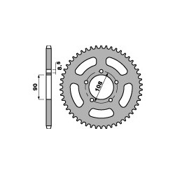 PBR 1515 Rear Sprocket Aprilia ETX 350 / Tuareg 350 / 600