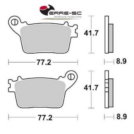 Rear Brake Pads SBS 834 HF Ceramic, Honda CBR 600 RR 07