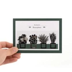 segnalibri piante d'appartamento - bookmarks house plant - R nel bosco