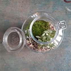 kit - realizza il tuo terrario - diy - micromondo in barattolo - R nel bosco