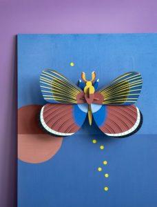 insetti cartacei giganti - 3d object - R nel bosco - Giant Butterfly