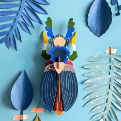 insetti cartacei giganti - 3d object - R nel bosco - Japanese Beetle