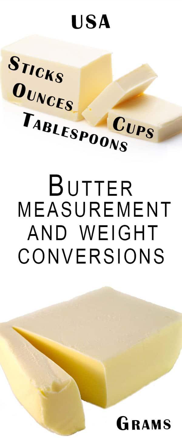 Butter Measurement Conversion Charts - Erren's Kitchen