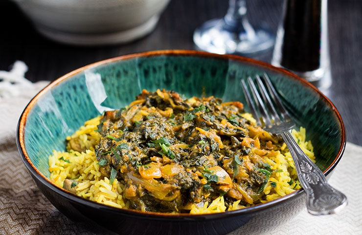 Quick and Easy Sag Bahji Spinach Curry  Ready to eat in just 10 minutes