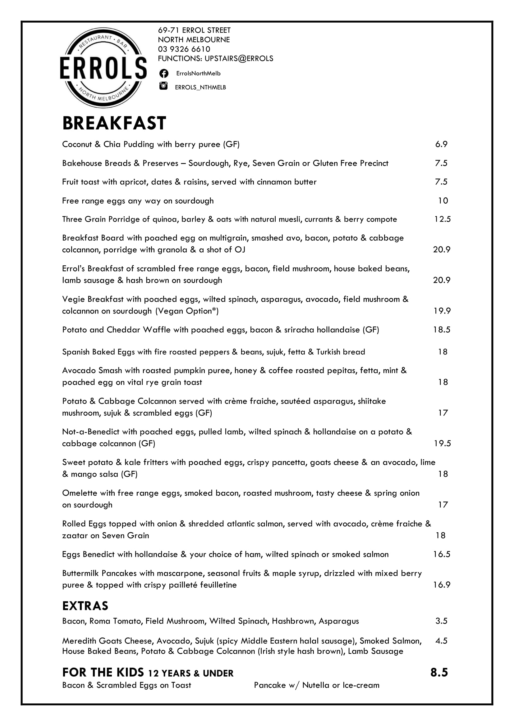 Errols Breakfast Menu Winter 2018-1