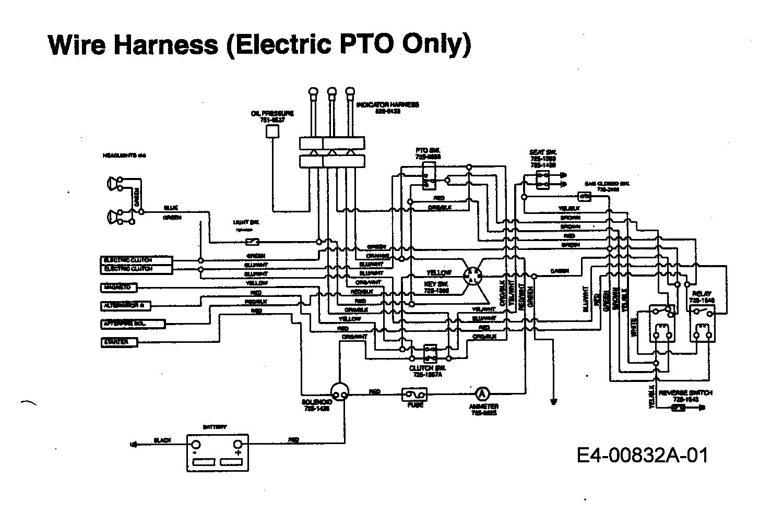 Yard-Man HN 7180 Schaltplan Elektromagnetkupplung