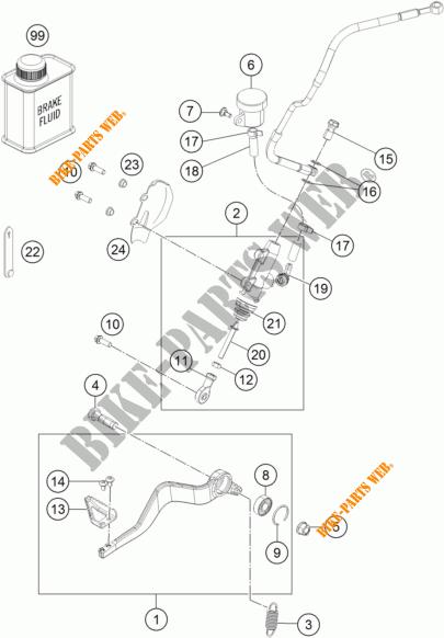 BREMSPUMPE HINTEN für KTM 1190 ADVENTURE R ABS 2013 # KTM